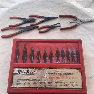 Mechanics Retaining Ring Plier Set Plus Others for Sale in Chandler, AZ