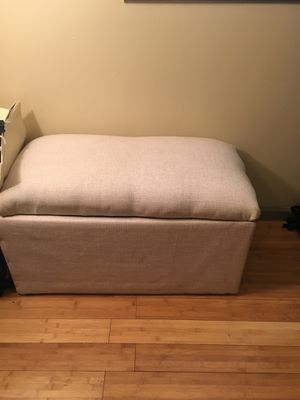 Beige storage ottoman for Sale in Nashville, TN