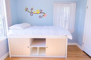 Twin bed frame and mattress with LOTS of extra storage space! for Sale in San Diego, CA