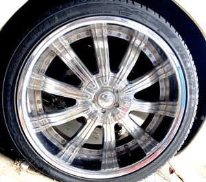 22 inch rims and tires for Sale in Lockhart, FL
