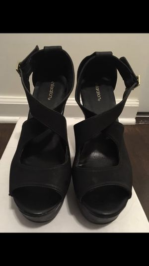 Women's black wedge for Sale in Silver Spring, MD