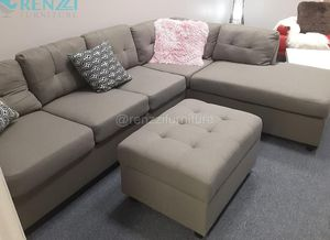 -<❈>- Sectional Sofa $599 Gray Color Financing Available for Sale in Miami, FL