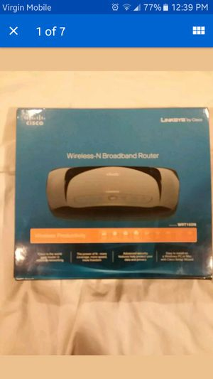 CISCO LINKSYS ULTRA RANGE PLUS WIRELESS-N BROADBAND ROUTER 300 Mbps 10/100 4PORT for Sale in West Hempstead, NY