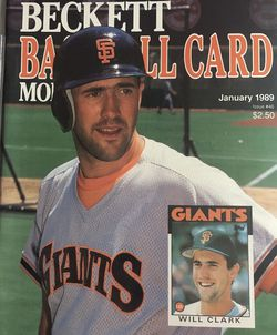 Beckett January 1989 issue #46 Front Cover Will Clark, Back Cover David Cone. for Sale in Boston,  MA