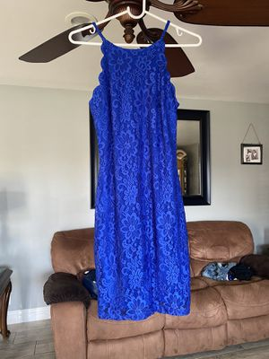 New Blue Lace Dress( tags attached) for Sale in Oxnard, CA