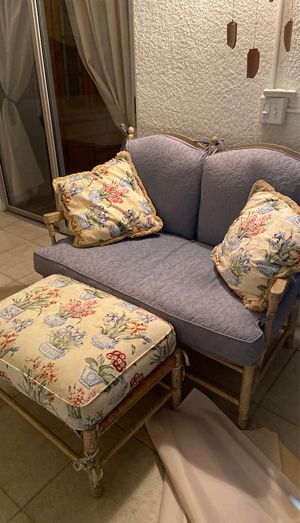 Small loveseat and ottoman for Sale in Delray Beach, FL