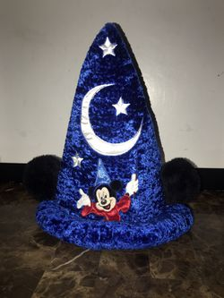 Disney Parks Mickey Mouse Fantasia Hat Sorcerer Wizard Plush Ears Size Small for Sale in West Dundee,  IL