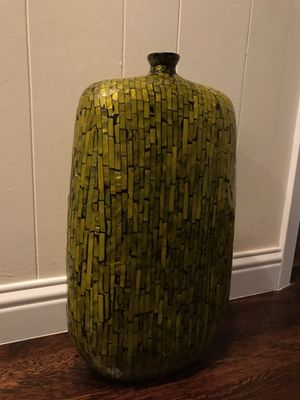 Large Mosaic Green Ceramic Vase for Sale in Dallas, TX