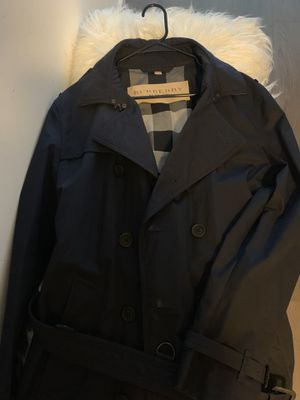 Like new barely used Burberry Trench coat - dark blue for Sale in Chicago, IL