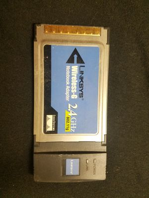 LINKSYS WIRELESS G NOTEBOOK ADAPTER for Sale in Florissant, MO