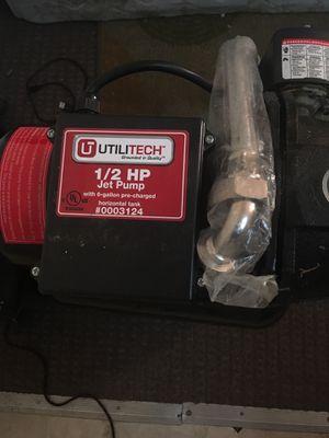 Utilitech jet pump 1/2 hp 9 gpm for Sale in Lincoln, NE