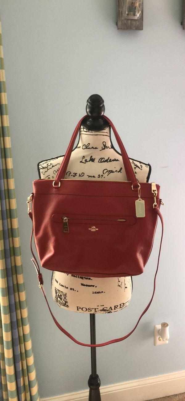 NWOT red COACH hobo bag
