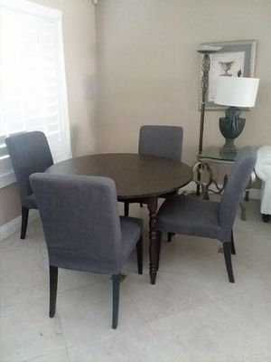 Dining set with extendable table and 4 chairs like new for Sale in San Dimas, CA