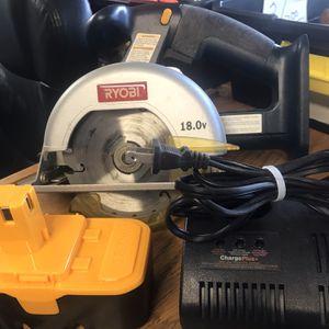 Ryobi 18v Circular Saw-New Battery-Charger for Sale in Punta Gorda, FL