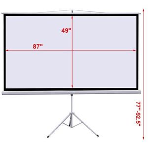 """100"""" Projector 16:9 Projection Screen HD Adjustable Tripod Manual Pull-down 87"""" x 49"""" Portable Foldable Stand for Sale in Phoenix, AZ"""
