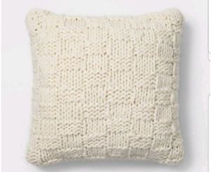 Chunky Knit Oversize Square Throw Pillow Cream Set of 2 - Threshold for Sale in Long Beach, CA