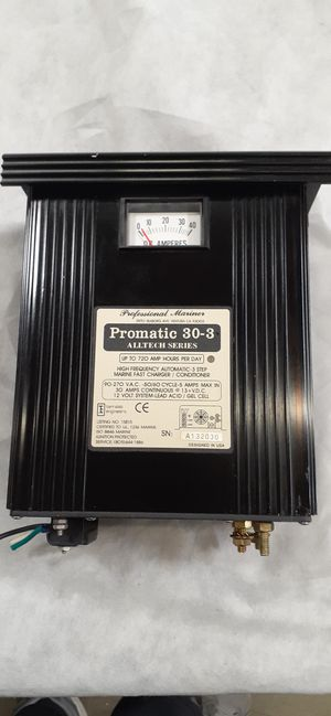 Promatic 30-3 3 step Marine Fast Charger for Sale in San Diego, CA