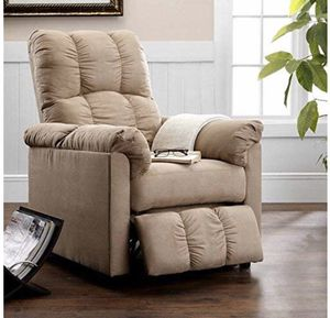 Slim Microfiber Recliner - Beige-Negotiable for Sale in New York, NY