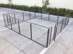 New 32 inch tall x 32 inch wide each panel x 16 panels heavy duty exercise playpen adjustable fence safety gate dog cage crate kennel for Sale in South El Monte, CA