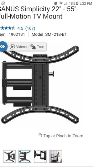 Sanus Simplicity Wall mount, tv mount, tv frame, tv bracket for Sale in Miami, FL