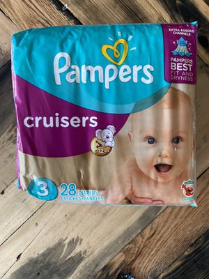 Pampers Cruisers Size 3 for Sale in Cromwell, CT