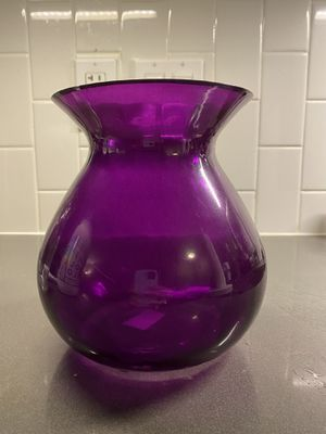 Purple glass vase for Sale in Washington, DC