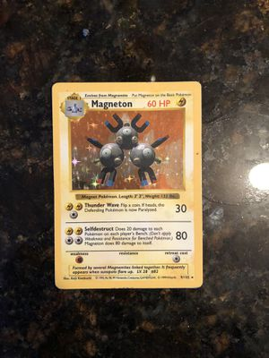 Magneton Shadowless Holo Pokemon Card for Sale in Middletown, NY