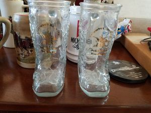 Anheiser busch glass boots for Sale in Scottsdale, AZ