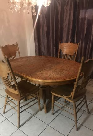 wood dining table and chairs for Sale in Fresno, CA