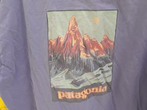 VTG Vintage 90's Patagonia Purple 100% Organic Cotton Made USA Adult Men's Beneficial Tee for Sale in Sterling Heights, MI