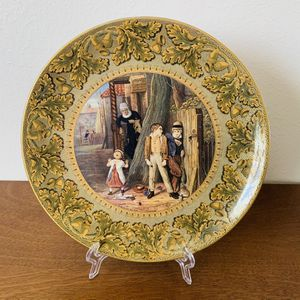 Antique 1860's Round Multipattern Portrait Decorative Plate for Sale in Dallas, TX