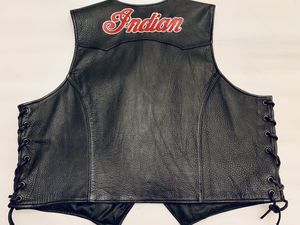 JH Design Indian motorcycle ladies leather vest for Sale in Phoenix, AZ