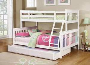 Twin over Full Bunk Beds with Twin trundle New in boxes for Sale in Atlanta, GA