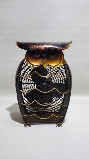 Desk Fan Owl Shaped Decorative Figurine Beautiful Metal 30w 120v/60htz electric for Sale in Los Angeles, CA