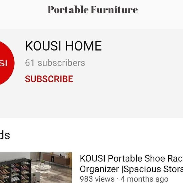New in Box. Kousi Home Furniture Portable Modular Closet