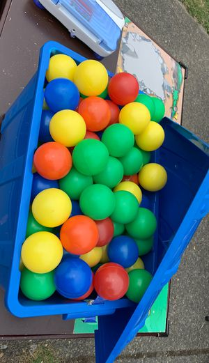 Treasure box w/balls for Sale in Puyallup, WA