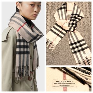 Burberry Classic Check Cashmere Scarf retail $475 Like New! Recently purchased in excellent condition. Authentic Color stone 100% cashmere no rips, t for Sale in Washington, DC