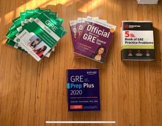 COMPLETE Set of GRE Books, free test codes included! for Sale in San Diego,  CA