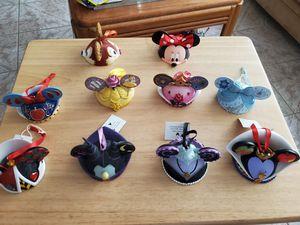 Disney parks ear hat ornaments set for Sale in El Paso, TX