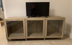 Brand new multipurpose Tv stand with 3 different compartments for storage for Sale in Miami Beach, FL