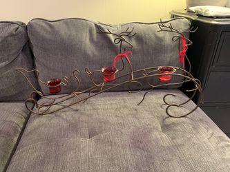 Santa Sleigh Tea Light Holder Christmas for Sale in North Bethesda,  MD