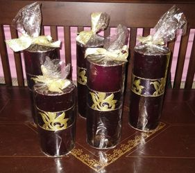 5) Entertain the season Pillar candles. Buon Natale for Sale in Westerville,  OH