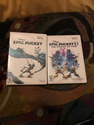 Epic Mickey & Epic Mickey The Power of 2 for Sale in Peoria, IL