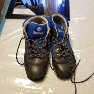 Real Leather timberland blue grey boots size 6- used for Sale in Cincinnati, OH