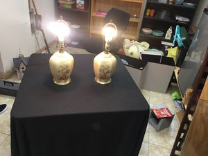 Matching vintage Asian inspired lamps for Sale in Houston, TX