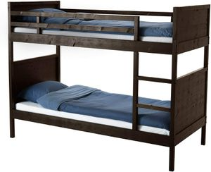 Black-Brown Ikea bunk bed with Mattress for Sale in San Jose, CA