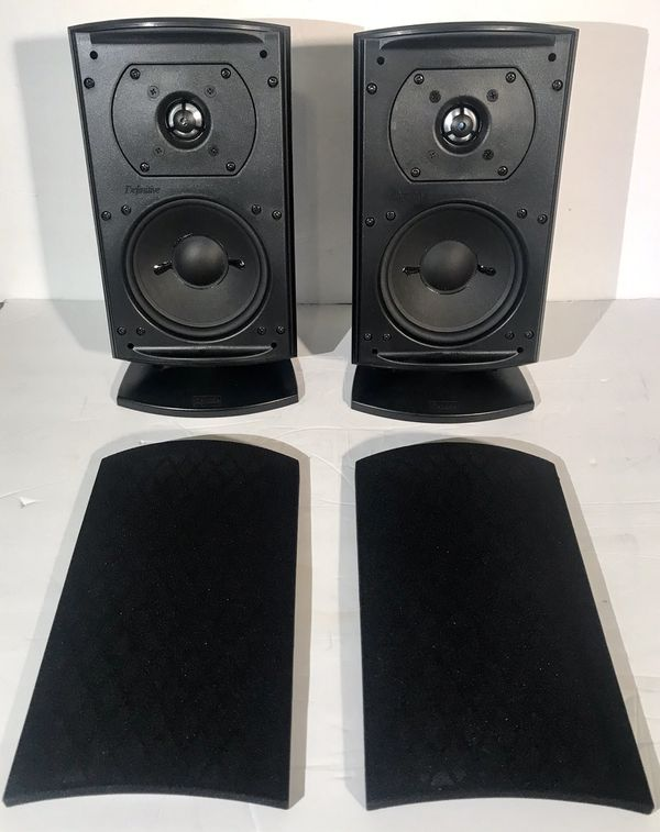 Definitive Technology Pro Cinema Pro Monitor100 Stereo Audio Speakers W/Stands