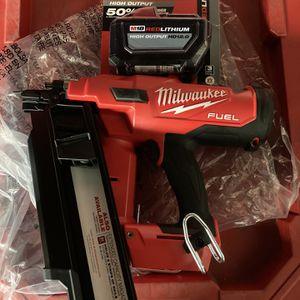 Milwaukee M18 Fuel 21 Degree Framing Nailer And 12.0 Batt for Sale in Philadelphia, PA