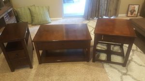 walnut coffee table and end tables for Sale in Ripon, CA