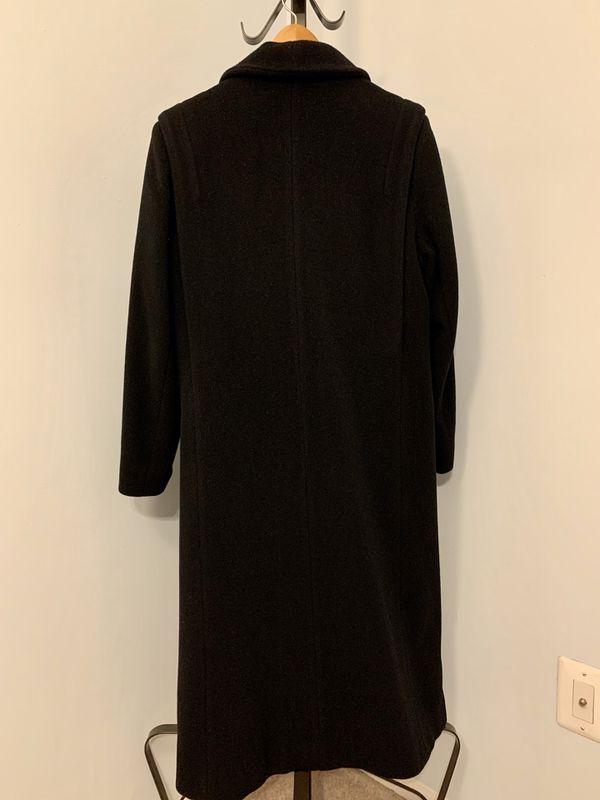 Karen Petites Women's 100% Wool Trench Coat, Medium